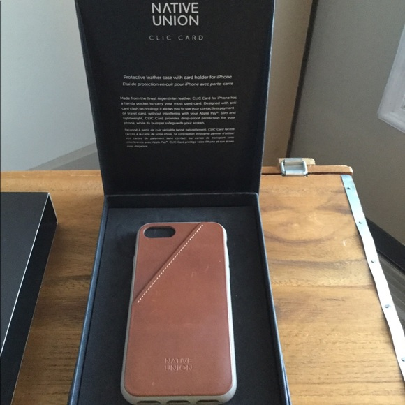 size 40 9f73f 64375 Native Union CLIC Card Case iPhone 7 NWT